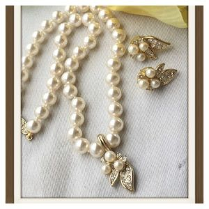 💃🏻💋Beautiful Pearl Necklace & Earrings